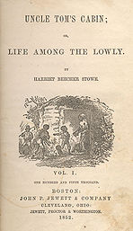 Uncle Tom's Cabin, Buchcover 1852