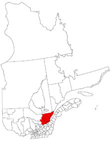 Lage der Region Capitale-Nationale in Québec