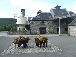 Royal Lochnagar distillery - Distillery buildings and courtyard.jpg
