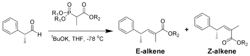 Example of the Horner-Wadsworth-Emmons reaction with branched phosphonates